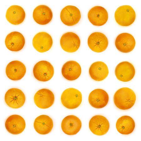 net trade: Rows of oranges in milk, original kitchen background