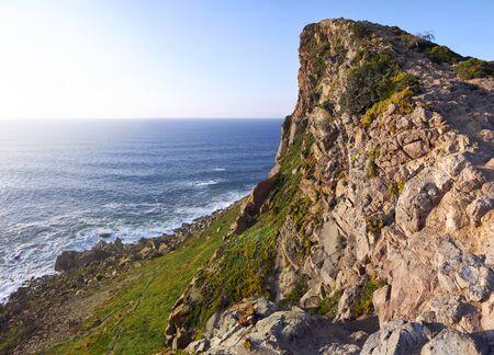 roca: Cabo da Roca coast landscape in warm light