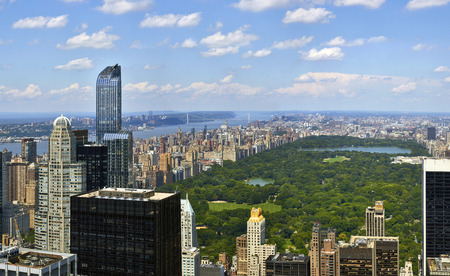 中央公園航空写真ビュー、マンハッタン、ニューヨーク、高品質パノラマ