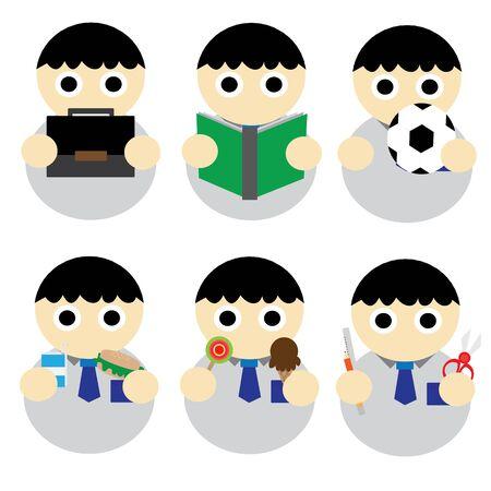 student boy: Student Boy Cartoni