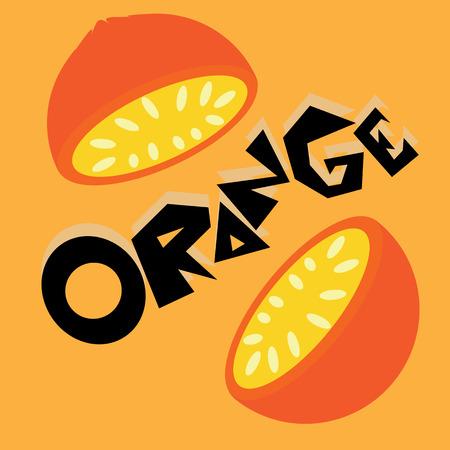 tarts: Orange Wallpaper Illustration