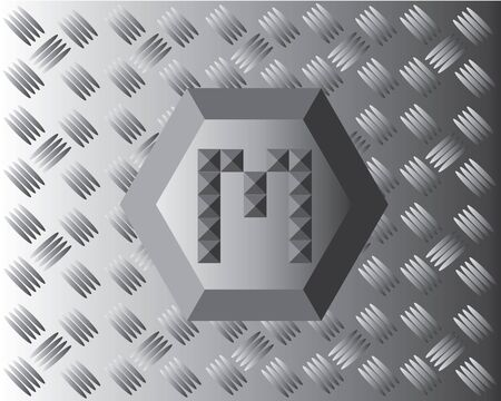 aluminium: M Text Aluminium Wallpaper Illustration