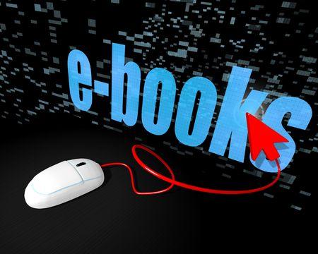www click e-books Stock Photo