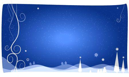 beautiful christams background light blue Stock Photo - 5771226