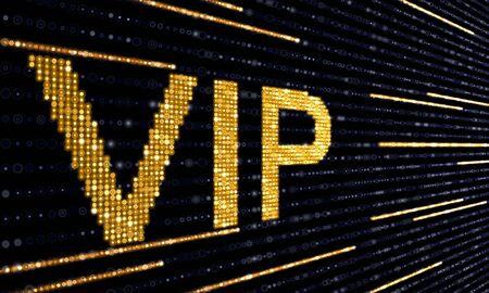electronic vip ticket Stock Photo