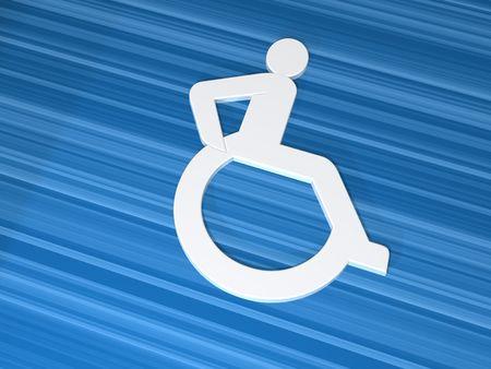 3d symbol handicaped Stock Photo