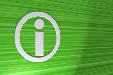 3d symbol information Stock Photo