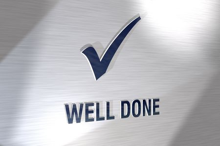 3d sign well done Stock Photo