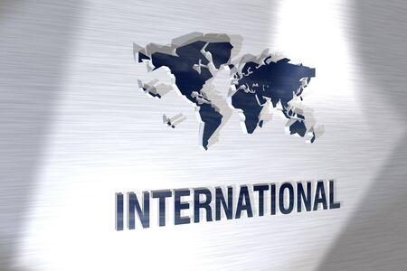 3d sign international Stock Photo