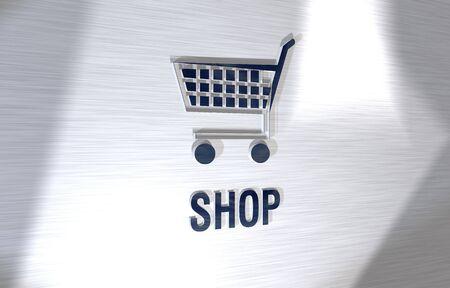 3d sign shop Stock Photo