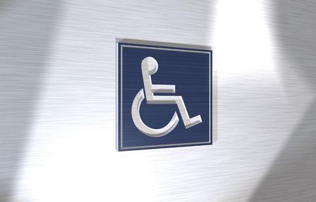3d sign handicaped