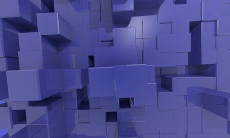 texture  structur blue cubes Stock Photo - 16662871