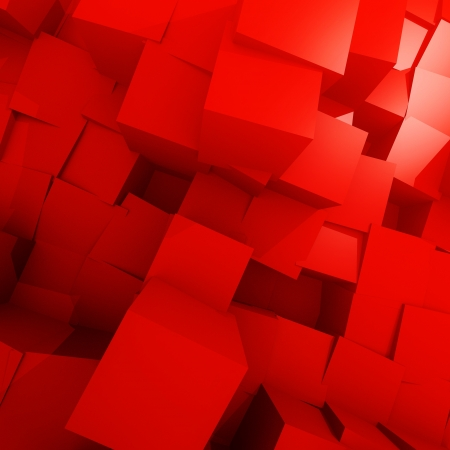 red cube landscape Stock Photo - 16662857