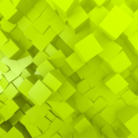 pattern  cube background in green Stock Photo
