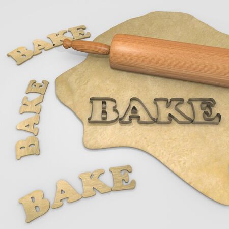 cookie cutter: bake christmas cookies Stock Photo