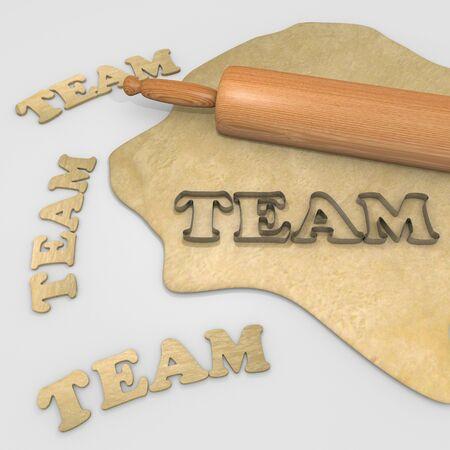 cookie cutter: team cookies