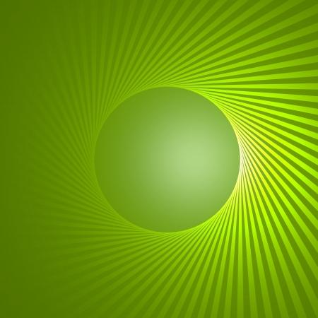 beau: green circle background
