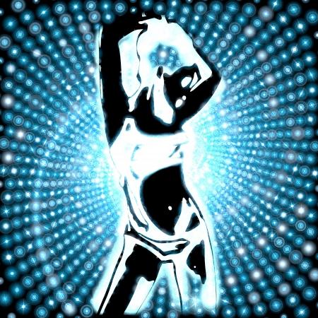 girly electronic disco background True Blue Stock Photo - 17407794