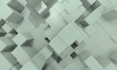 technology  pattern  with cubes Stock Photo - 17407830