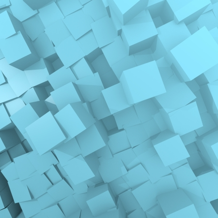 deep cube background in Light sky blue Stock Photo - 17407838