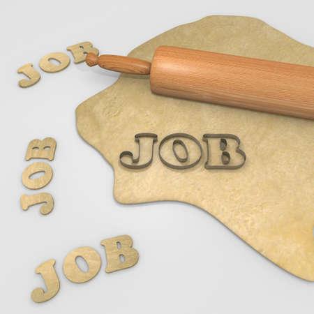 cookie cutter: job baking cookie