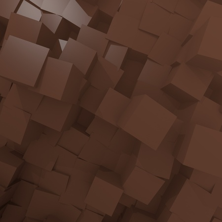 zinnwaldite brown:  brown cube background