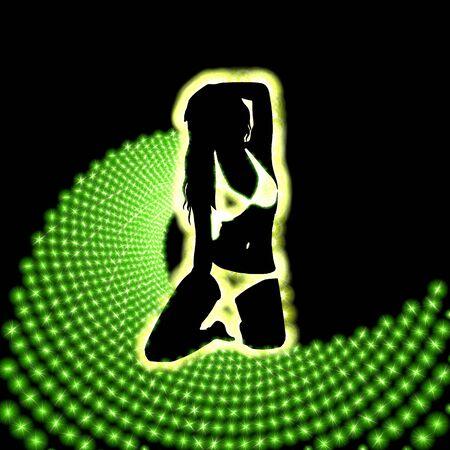 praty lightning disco background Neon green Stock Photo - 17407903
