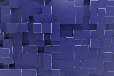 ultramarine: cubes matrix 3d background Zaffre   Stock Photo