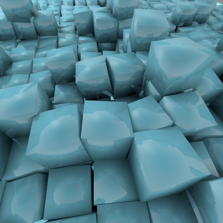 3d cube background Light sky blue   Stock Photo - 17550707