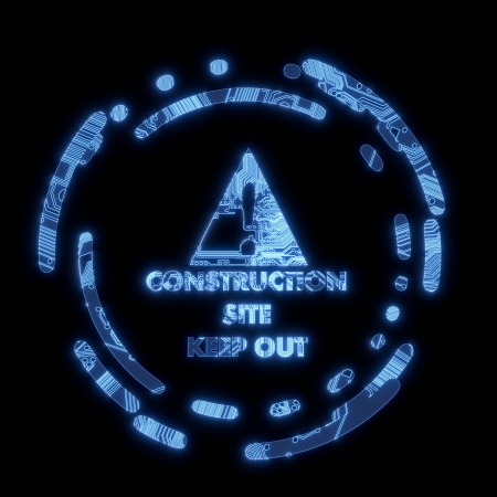 electric flare construction site symbol Stock Photo - 17550570