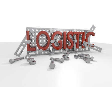 zinnwaldite brown: logistic and technic 3d graphic