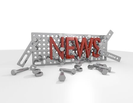 zinnwaldite brown: technical news 3d graphic
