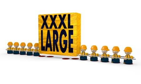 xxxl: construction site x-large XL symbol Stock Photo