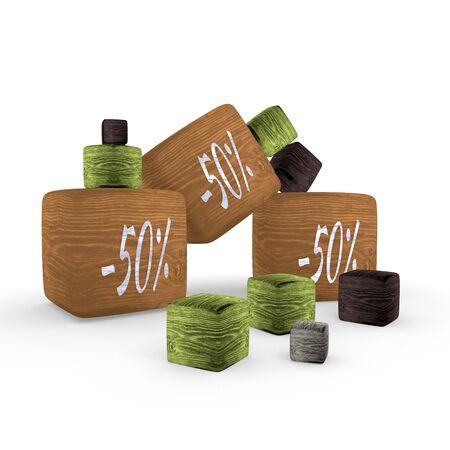 tiny: -50  rabatt wooden tiny symbol cubes
