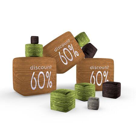 Sepia  wooden -60  symbol cubes Stock Photo - 17578885