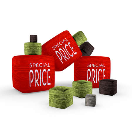 red wood special price wooden symbol cubes photo