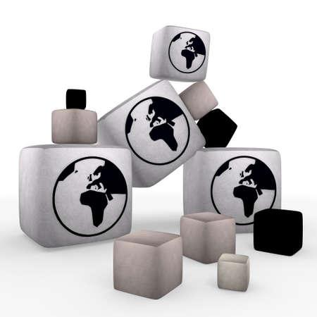 tiny: Magnolia  wool tiny world symbol cubes
