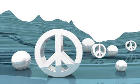 landscape cold peace symbol