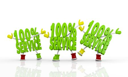 friends 3d characters 100 Service Symbol Stock Photo - 17578663