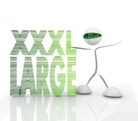xxxl: Pastel gray  modern futuristic XL 3d character