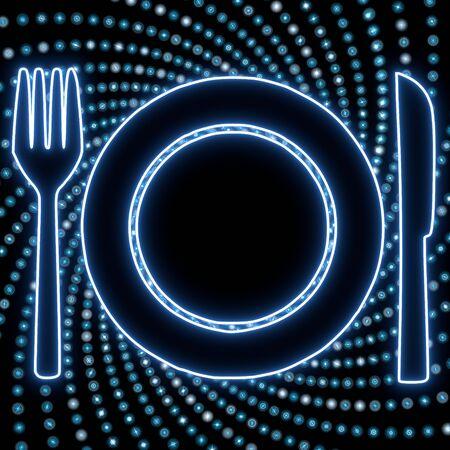 azure: Azure  electronic disco restaurant light