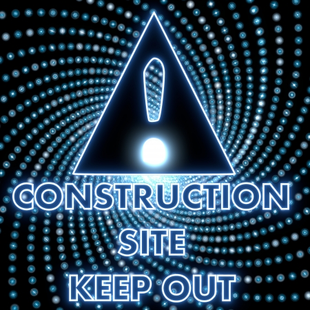 keep out: Azure  electronic construction site keep out symbol