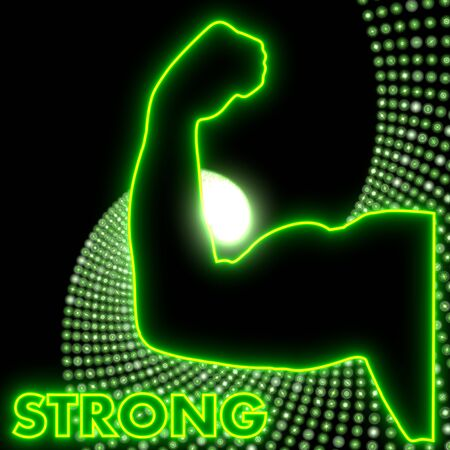 powerfull: Neon green  electronic disco strong light Stock Photo