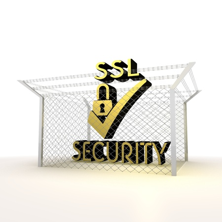 razorwire: Mikado yellow  arrest 3d graphic with metallic SSL icon Stock Photo