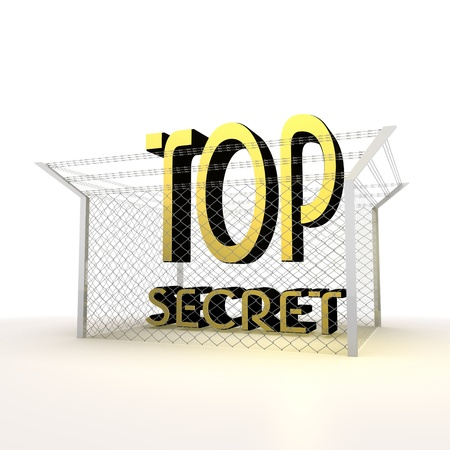 Mikado yellow  arrest 3d graphic with locked top secret icon photo
