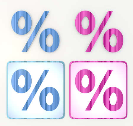 puerile: lables in pink and blue symbol 3d graphic with cute percent icon