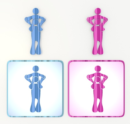 immature:  pink and blue symbol 3d graphic with isolated dad icon