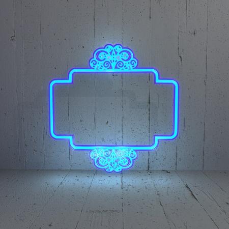 curlicue: 3D graphic  Curlicue label illumination in a simple background