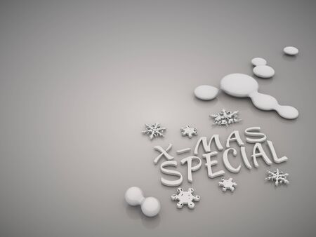 mirrow: 3D graphic  Elegant christmas special symbol in a stylish grey background