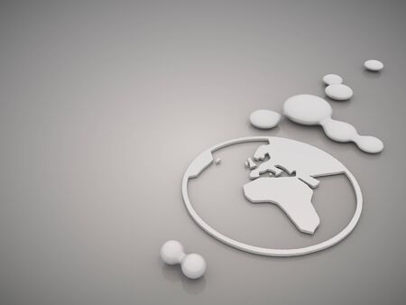 nifty: 3D graphic Nifty world symbol in a stylish grey background